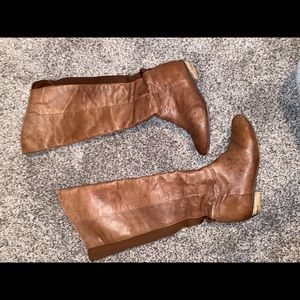 Steve Madden Creation Leather Knee Boots